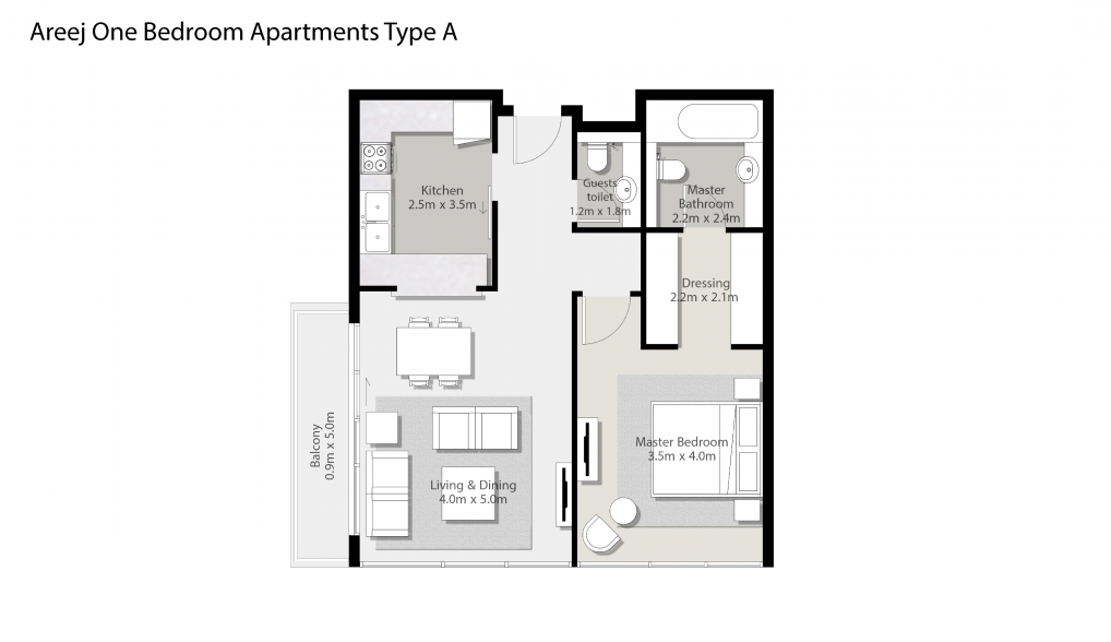 Areej-One-Bedroom-Apartments-Type-A