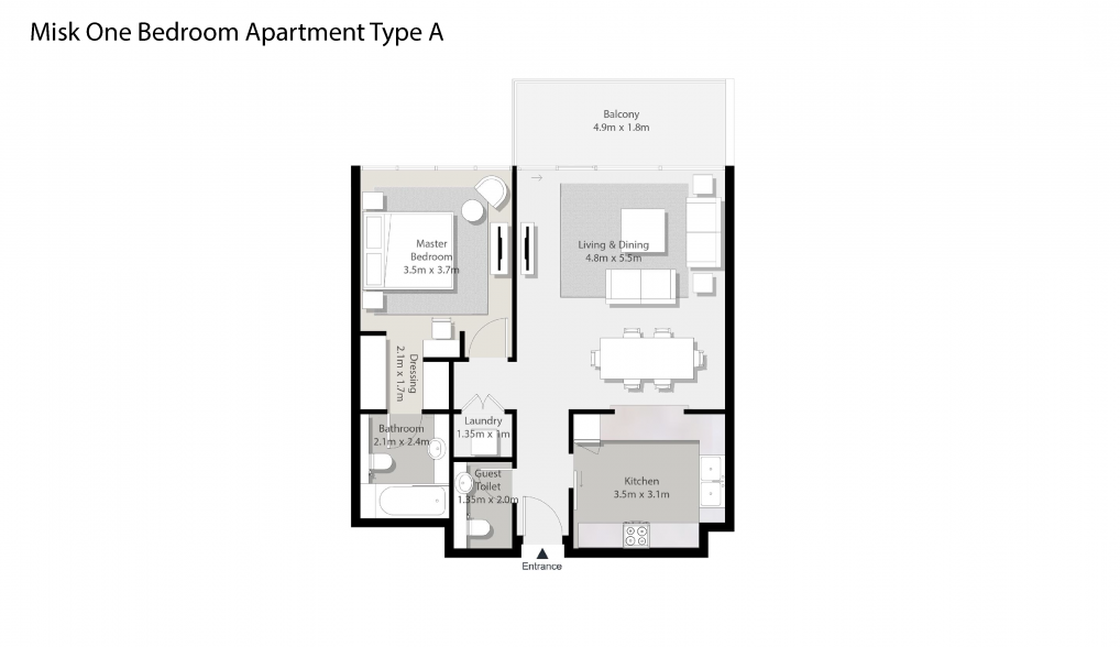 Misk-One-Bedroom-Apartment-Type-A