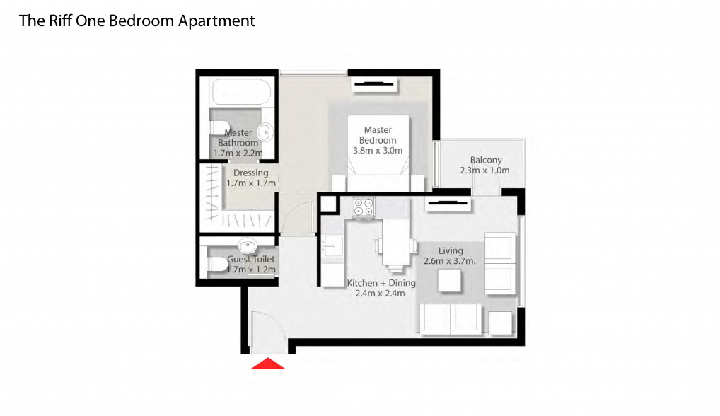 The-Riff-One-Bedroom-Apartment