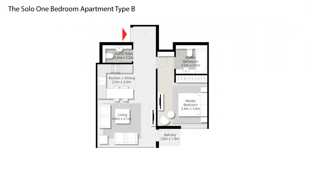 The-Solo-One-Bedroom-Apartment-Type-B